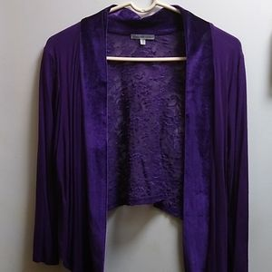 """Charlotte Russe"" Purple Shawl Jacket; Size XL"